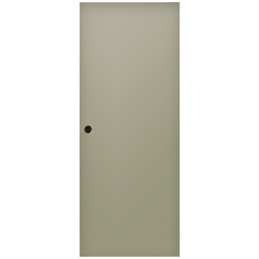 Shop milliken flush slab entry door common 32 in x 80 in for Exterior door slab