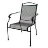 Garden Treasures Hanover Mesh-Seat Wrought Iron Patio Dining Chair