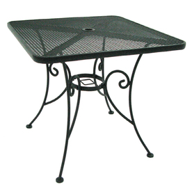 Garden Treasures Hanover 30-in x 30-in Steel Square Patio Dining Table