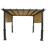 Garden Treasures N/A 7.6-ft x 10-ft x 10-ft Matte Black Powder Steel Freestanding Pergola