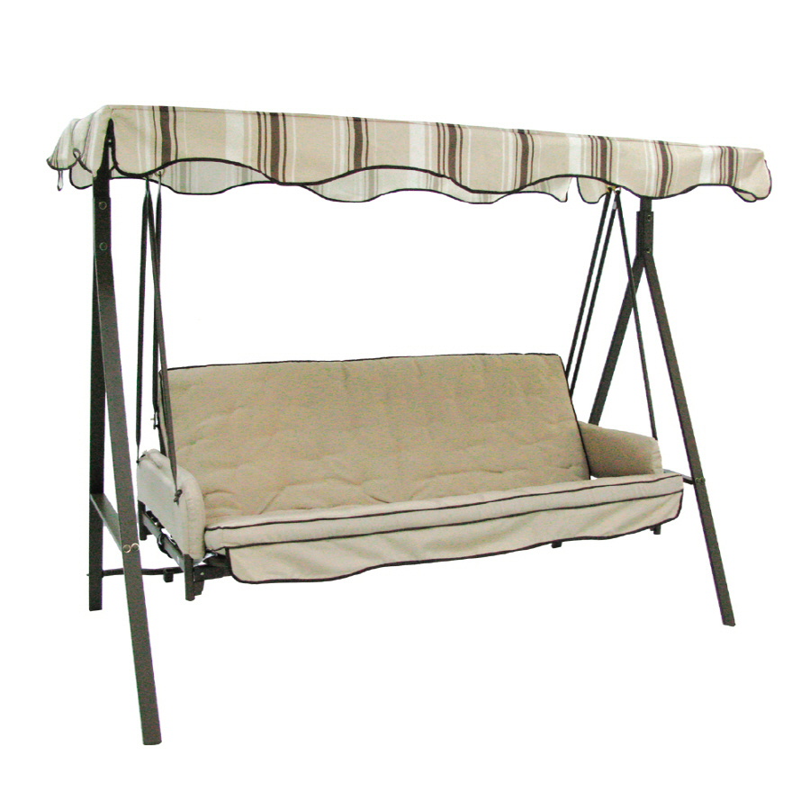 Backyard Canopy Lowes : Garden Treasures 3Seat Steel Traditional Porch Swing at Lowescom