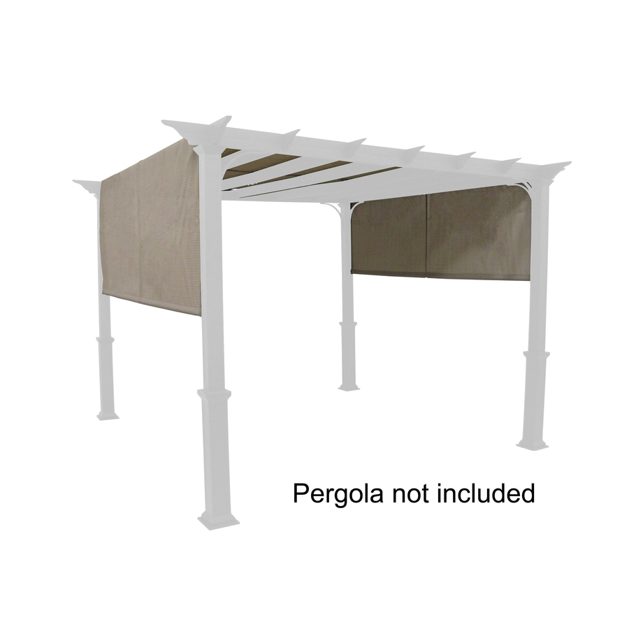 Backyard Canopy Lowes : Shop Garden Treasures Tan Pergola Canopy at Lowescom