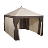Garden Treasures 12-ft x 10-ft Brown Steel Gazebo