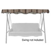Garden Treasures 3-ft W x 7-ft L Rectangular Tan/Brown Steel Standard Canopy
