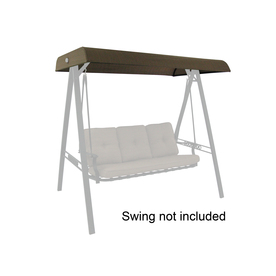 Shop Garden Treasures North Haven Brown Steel 3 Person Replacement Top For Porch Swing Or Glider
