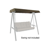 Garden Treasures North Haven Brown Steel 3-Person Replacement Top for Porch Swing or Glider