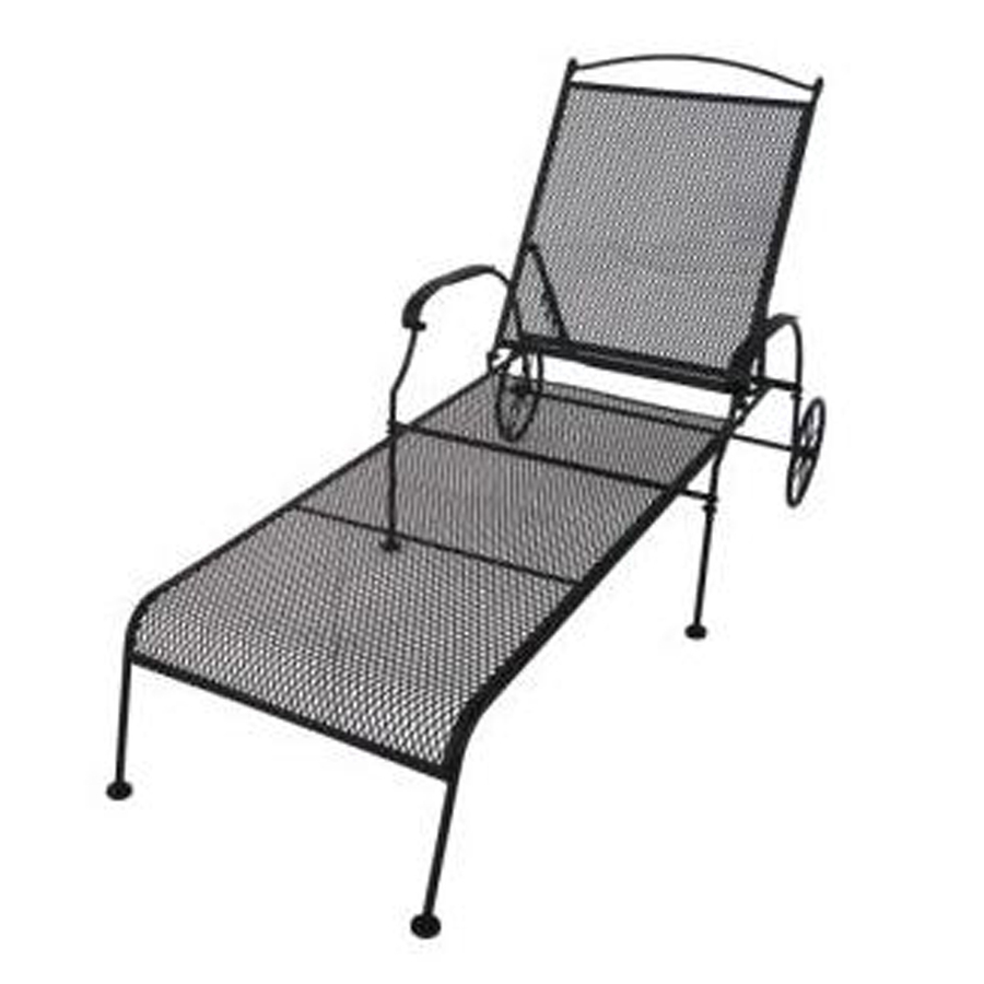 Wrought Iron Chaise Lounge Patio Furniture
