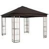 Garden Treasures 10-ft x 10-ft x 9-ft Beige Steel Gazebo