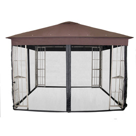 Garden Treasures Black Polyester Insect Net for 10-ft Square Metal Gazebo