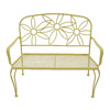 Garden Treasures 36-in L Steel/Iron Patio Bench