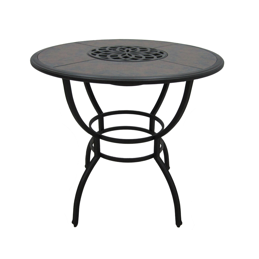 ... Willow Pass Tile-Top Brown Round Patio Dining Table at Lowes.com