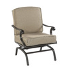 Garden Treasures Set of 2 Willow Pass Brown Aluminum Cushioned Patio Spring Motion Chairs