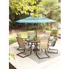 Garden Treasures Hayden Island 6-Count Brown Steel Patio Dining Chairs