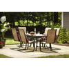 Shop Garden Treasures Set Of 6 Hayden Island Brown Sling Steel Patio Dining C