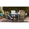 Garden Treasures Hayden Island 56-in W x 50-in L Hexagon Steel Dining Table