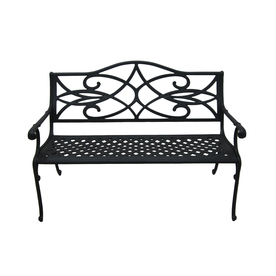 Shop garden treasures waterbridge place 35 5 in w x 51 in l aluminum patio bench at Lowes garden bench