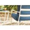 Garden Treasures 5-Piece Yuma Point White Steel Patio Conversation Set