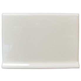 Interceramic 4-1/4-in x 6-in White Ceramic Cove Base Tile