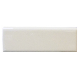 Interceramic 2-in x 6-in Pearl Brite White Ceramic Bullnose Trim