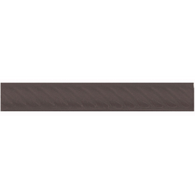 Interceramic Wall Tile Collection Black Ceramic Pencil Liner Tile (Common: 1-1/2-in x 8-in; Actual: 1.17-in x 7.83-in)