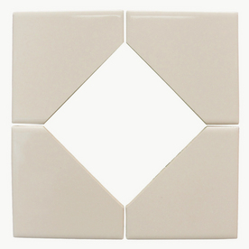 Interceramic 8-1/2-in x 8-1/2-in Bone Ceramic Square Accent Tile