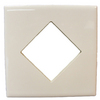Interceramic 4-in x 4-in White Ceramic Square Accent Tile