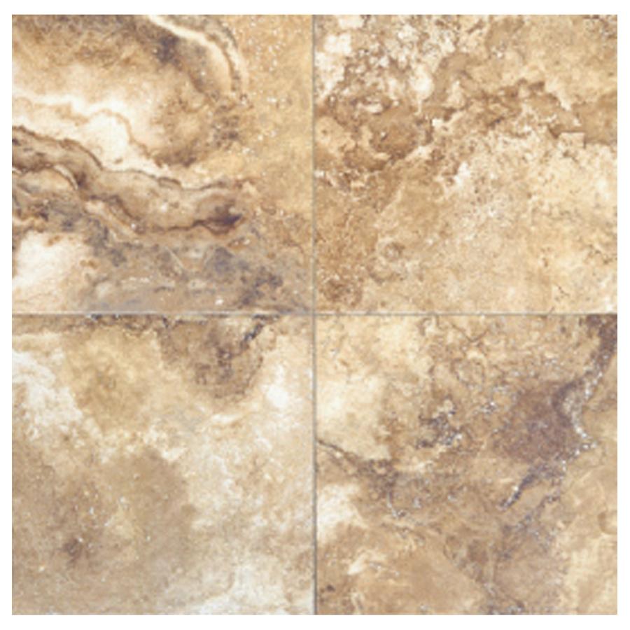 Shop interceramic 10 pack travertino royal noce ceramic for 16 floor tile
