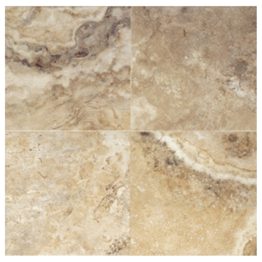 Shop interceramic 10 pack travertino royal walnut ceramic for 16 floor tile