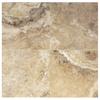 Interceramic 10-Pack Travertino Royal Walnut Ceramic Indoor/Outdoor Floor Tile (Common: 16-in x 16-in; Actual: 15.74-in x 15.74-in)