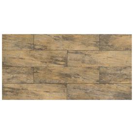 Interceramic 6-in x 24-in Forestland Maple Glazed Porcelain Floor Tile