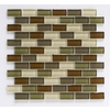 Interceramic 12-in x 12-in Shimmer Blend Woods Glass Wall Tile