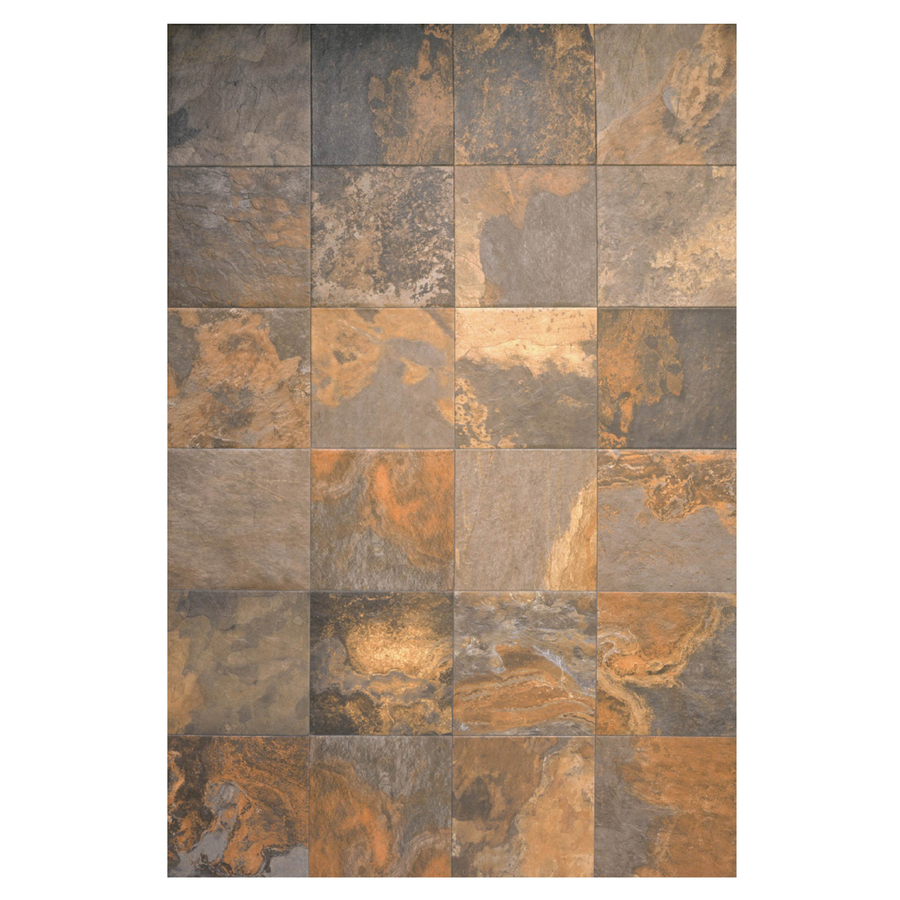 Zoom In Interceramic 16 In X 16 In Multicolor Slate Ceramic Floor Tile