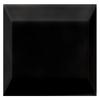 Interceramic Essentials Black Ceramic Square Accent Tile (Common: 3-in x 3-in; Actual: 2.95-in x 2.95-in)