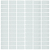 Interceramic Glassique Stark Uniform Squares Mosaic Glass Wall Tile (Common: 12-in x 12-in; Actual: 11.81-in x 11.81-in)