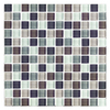 Interceramic Shimmer Blend Autumn Uniform Squares Mosaic Glass Wall Tile (Common: 12-in x 12-in; Actual: 11.89-in x 11.89-in)