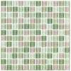 Interceramic 12-in x 12-in Shimmer Blends Garden Glass Wall Tile