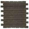 Interceramic Shimmer Storm Subway Mosaic Glass Wall Tile (Common: 12-in x 12-in; Actual: 11.89-in x 11.89-in)