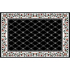 Home Dynamix London Black Rectangular Indoor Woven Area Rug (Common: 8 x 10; Actual: 92-in W x 127-in L)
