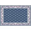 Home Dynamix 7-ft 8-in x 10-ft 7-in Country Blue London Area Rug