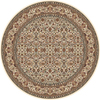 Home Dynamix 5-ft 2-in Round Ivory Vienna Area Rug