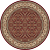Home Dynamix Vienna Red Round Indoor Woven Area Rug (Common: 6 x 6; Actual: 62-in W x 62-in L)