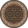 Home Dynamix 5-ft 2-in Vienna Round Black Area Rug