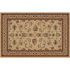 Home Dynamix 5-ft 2-in x 7-ft 6-in Sofia Cream Wool Classic Area Rug