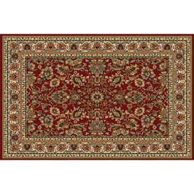 Home Dynamix Paris Red Rectangular Indoor Woven Area Rug (Common: 8 x 10; Actual: 92-in W x 127-in L)