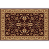 Home Dynamix Rome Brown and Gold Rectangular Indoor Woven Area Rug (Common: 5 x 8; Actual: 62-in W x 84-in L)