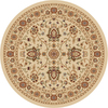 Home Dynamix 5-ft 2-in Round Ivory Rome Area Rug
