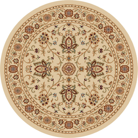 Home Dynamix Rome Ivory Round Indoor Woven Area Rug (Common: 8 x 8; Actual: 94-in W x 94-in L)