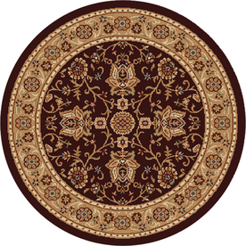 Home Dynamix Rome Brown and Gold Round Indoor Woven Area Rug (Common: 8 x 8; Actual: 94-in W x 94-in L)
