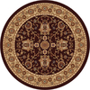 Home Dynamix 7-ft 10-in Rome Brown/Gold Round Area Rug