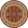 Home Dynamix Paris 5-ft 2-in x 5-ft 2-in Round Red Floral Area Rug